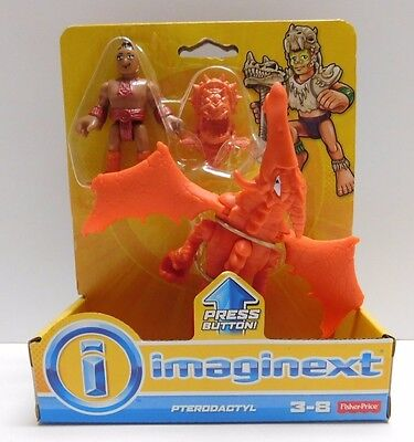 Fisher-Price Imaginext Pterodactyl Prehistoric Dinosaur Action Figure Age 3-8