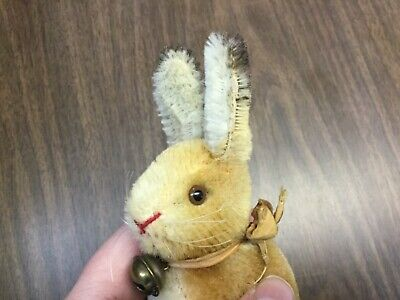 "Antique Vintage Steiff Bunny Rabbit Sonny. 4"" No ID Excellent Condition Darling!"