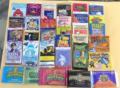 Lot Of 72 Assorted Non Sports Trading Card Wax Packs BONUS