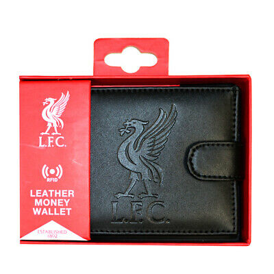 Liverpool Fc Debossed Crest Rfid Real Leather Football Club Sports Money Wallet