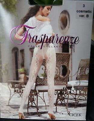 "Trasparenze ""Cicek"" Cosmetic with Pastels Var B Back Seam Tights XL"
