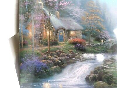 Pleasant Thomas Kinkade Twilight Cottage 16X20 A P Canvas Ltd Home Interior And Landscaping Ologienasavecom