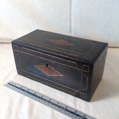 Elegant Victorian Jewellery/Sewing Box With Boxwood Stringing