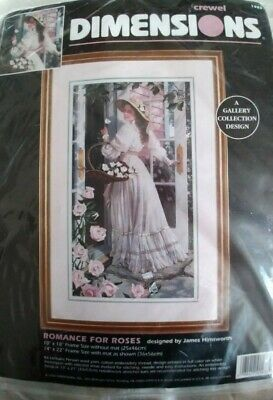 Dimensions  Romance for Roses Crewel KIT James Himsworth Sealed