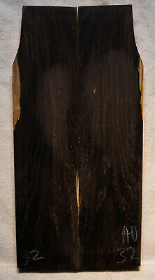 """African Blackwood #32 Knife Scales 7.8""""x1.5-2""""x 7/16"""" note defects"""