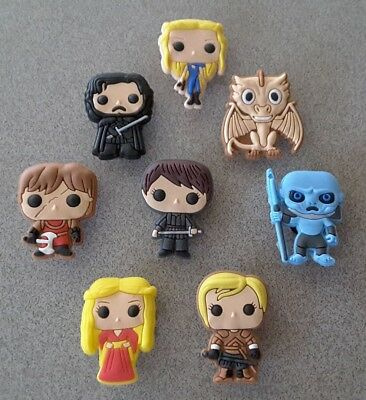 8 Game of Thrones themed *USA* shoe/bracelet jibbitz pvc charms party favors