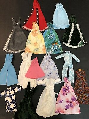 Barbie Clothes Vintage (1970's) Assortment (mostly gowns) Handmade