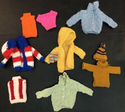 Barbie Clothes Vintage (1970's) Assortment of Sweaters Handknit RARE