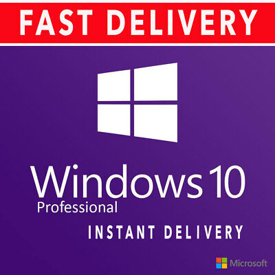 5PC Windows 10 Pro 32 64 bit Genuine License Product Key Code + Download