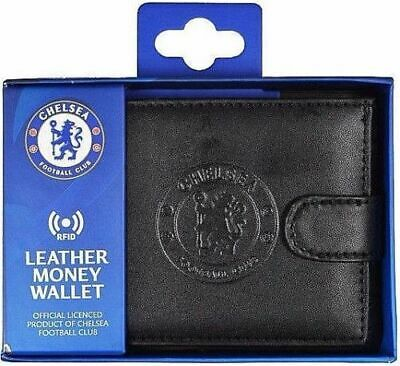 Chelsea Fc Debossed Crest Rfid Real Leather Football Club Sports Money Wallet