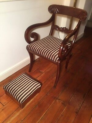 William IV Carver Chair and Foot Stool
