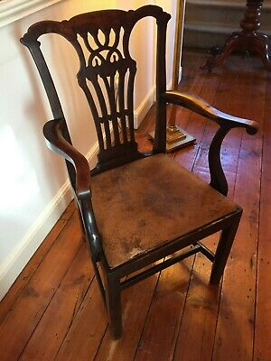 George III Chippendale Style Carver Chair