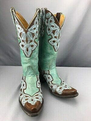 7e0a88bc96b GORGEOUS OLD GRINGO Chocolate swarovski crystals Lucky Cowboy Boots ...