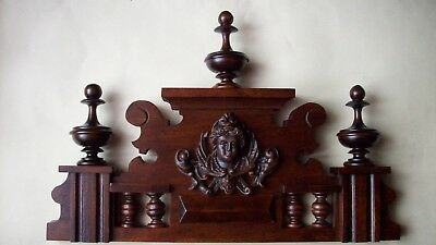 CROWN WOODEN TO THE CLOCK GERMAN VIENNA LENZKIRCH REGULATOR BECKER No.55