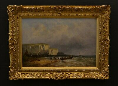 A Extremely Fine Original 19th Century British Seascape Oil On Canvas