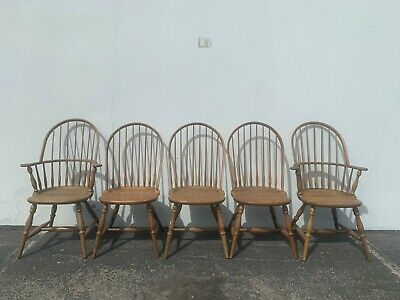 Dining Chair Set of Chairs Wood Solid Oak Antique Spindle Back Shaker Style