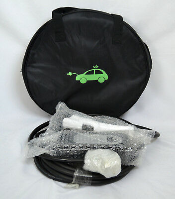 32 Amp Level 2 EV EVSE  Electric Car Super Fast Charger w/Case Cable 26ft