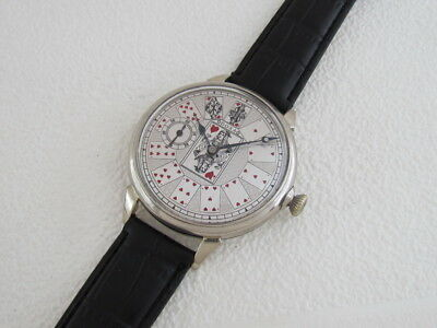 DOXA PLAYING CARDS Vintage Swiss Amazing Men's Anti-Magnetic Watch SERVICED