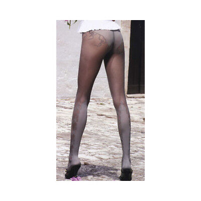 "Trasparenze ""Jessenia"" Mid Grey Var T  Sheer Tights With Calf Wrap Detail"