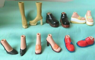 Bratz doll   6 pairs SHOES lot BOOTS SANDALS HIGH HEELS