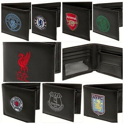 Embroidered Crest New Leather Wallet Football Club Team Purse Money Coin Cash Fc