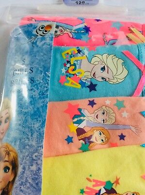 New pack of 5 Disney Frozen girls briefs, age 7-8 years