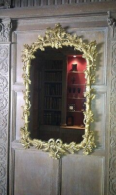 Oak leaf & acorn antique 18th century Georgian gilded mirror 94 x 56cm replica