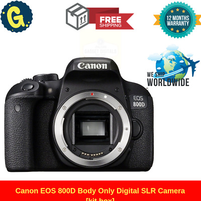 Brand New Canon EOS 800D Digital SLR Camera Body Kit - Black UK