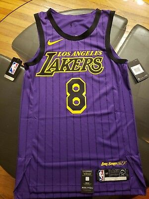 new product e57f1 fda43 MEN'S NIKE NBA Connected Jersey Kobe Bryant City Edition Authentic Lore  Series S