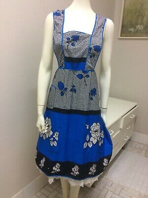 Original Vintage 50s 60s ladies Apron Full Length,Taniwha, Retro Pinup
