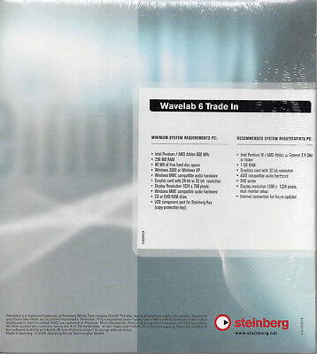 MAKE OFFER FREE SHIP STEINBERG WAVELAB 6 NiB sealed PC only audio editor master