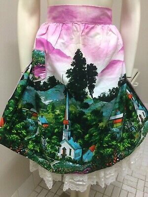 Original Vintage 50s 60s ladies apron Church Taniwha Retro Pinup Rockabilly