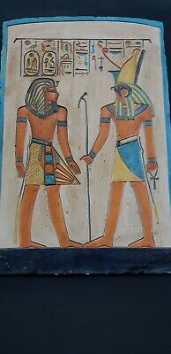 ANCIENT EGYPTIAN ANTIQUES  Stela Of Ramses ii With Tomb God HORUS'S Egypt Stone