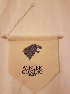 Game of Thrones House Stark Hanging Banner/Pennant Flag FREE SHIPPING