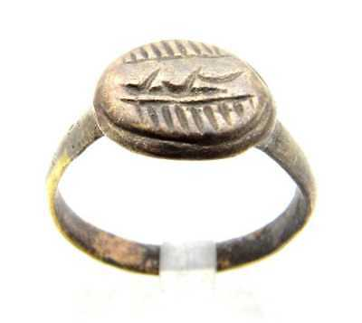 Crusaders Ring With Script Symbols (Size:8)