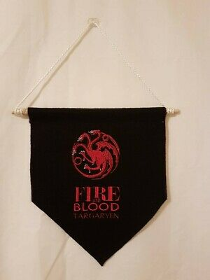 Game of Thrones House Targaryen Hanging Banner/Pennant Flag free shipping