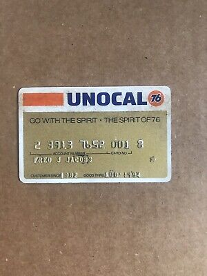 """⭐️1980s VINTAGE UNOCAL """"76"""" CREDIT CARD EXPIRED in1994 BAY AREA RESIDENT 👀LOOK"""