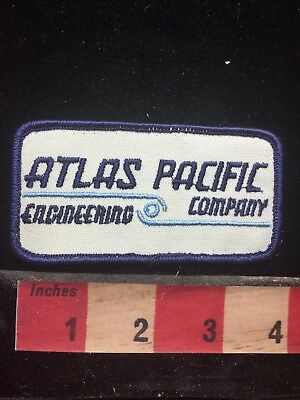 Vtg -likely 80-90s Era ATLAS PACIFIC ENGINEERING CO. Advertising Patch 76EE