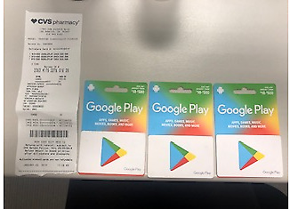 $500 Google Play Card - unscratched