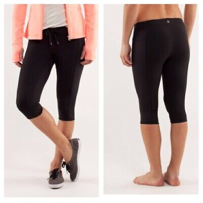 f742d0a23 LULULEMON HEAT IT UP Black Luxtreme skinny crop pant leggings Size ...