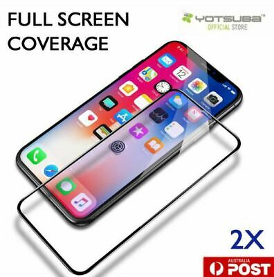 2X Full Coverage 9H Tempered Glass Screen Protector Apple iPhone X XS Max XR