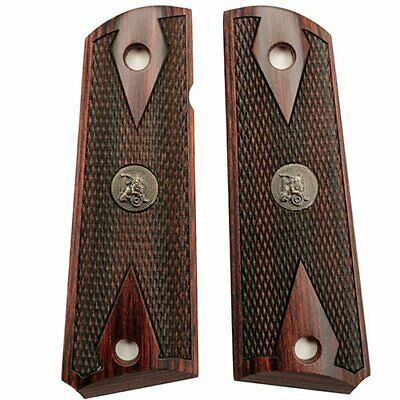 Pachmayr Colt 1911 Grip Double Diamond, Rosewood Checkered Wood Full Size Gvmt.