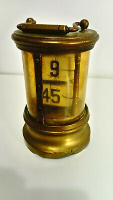 ANTIQUE FLIP CARRIAGE CLOCK DIGITAL DISPLAY 1905 restoration piece