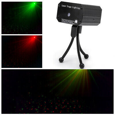 U`king Mini Laser Stage Light Red /Green LED Light Sound Activated Club Party DJ