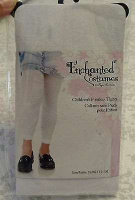 Girls Childrens Footless Tights XL 11 - 13