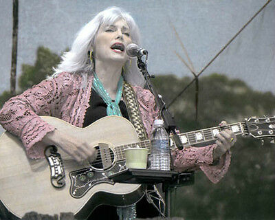 """EMMYLOU HARRIS COUNTRY WESTERN SINGER SONGWRITER 8x10"""" HAND COLOR TINTED PHOTO"""