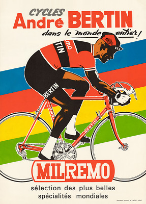 Cycles Andre Bertin Vintage Bicycle Poster Print Art Advertisement - Cycling