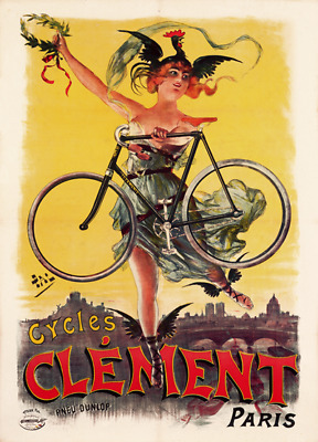 Cycles Clement Vintage Bicycle Poster Print Art Advertisement - Cycling