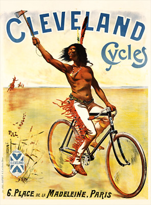 Cleveland Cycles Vintage Bicycle Poster Print Art Advertisement - Cycling - Bike