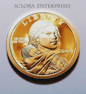 2008 S Sacagawea *proof* Dollar Coin  **free Shipping**